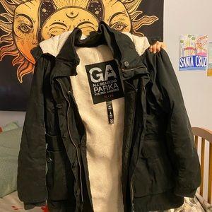 Garage all seasons black parka jacket
